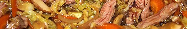 Hampe de veau sautée aux légumes