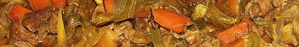 Tajine de veau aux carottes, poireaux et abricots secs