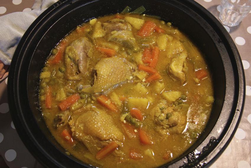 Poulet au curry avec Pascal